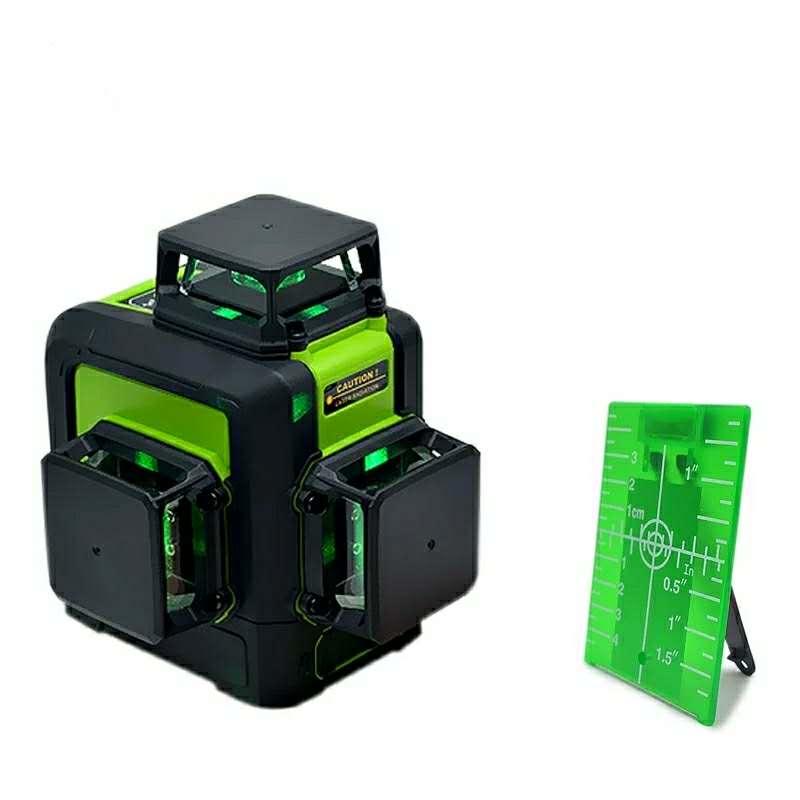 Zokoun 3x360 3D verde fascio di Linee di Livello del Laser con 5200 mah BATTERIA AL LITIO e Linee Orizzontali E Verticali lavoro Separatamente