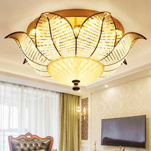 ФОТО modern crystal ceiling lamps led dimmable crystal sunflower ceiling lights fixture american romantic lamp home indoor lighting