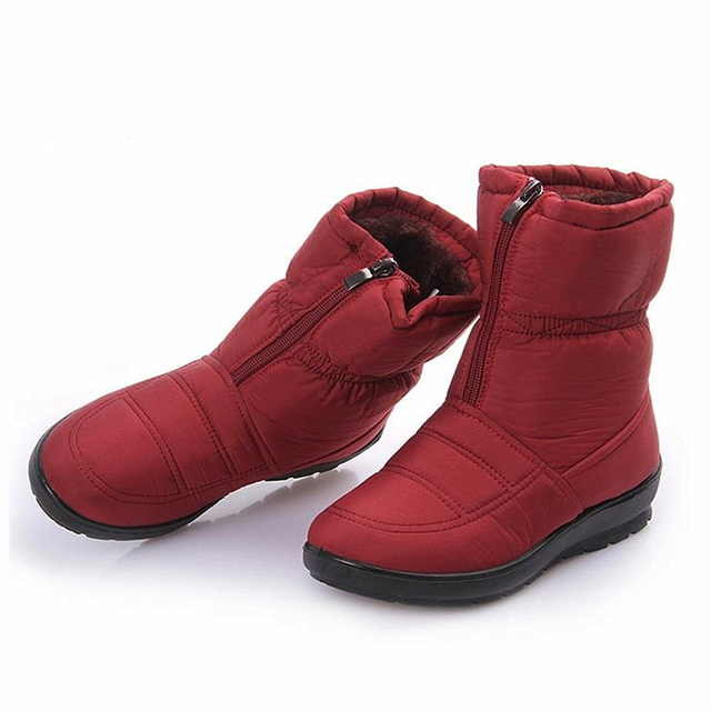 Botas de neve 2016 de Inverno da marca quente não-deslizamento à prova d' água mulheres botas sapatos mãe inverno de algodão casuais primavera botas femininas sapatos