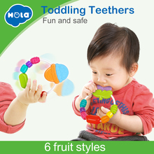 Купить с кэшбэком 1PC Baby teether toys baby rattle colorful rainbow rings crib bed stroller hanging decoration educational toys for kids