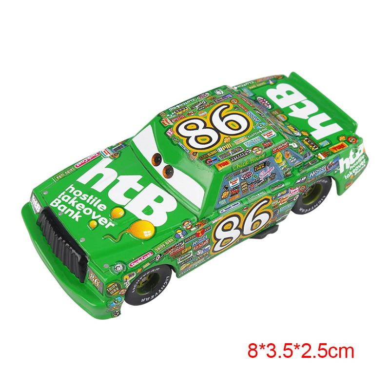 Дисней Pixar Тачки 2 3 Молния Маккуин матер Джексон шторм Рамирез 1:55 литье под давлением автомобиль металлический сплав мальчик малыш игрушки Рождественский подарок - Цвет: Chick Hicks