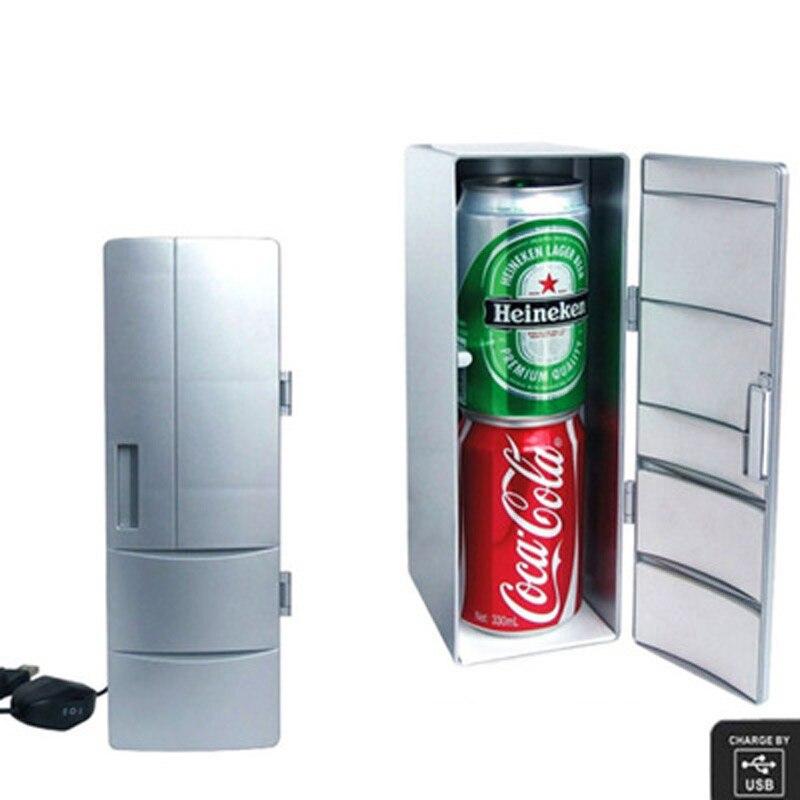 Ingelon Portable CoolerWarmer USB Fridge Refrigerator Mini Beverage Drink Cans Cooler Power for Office Laptop PC USB Gadgets (4)