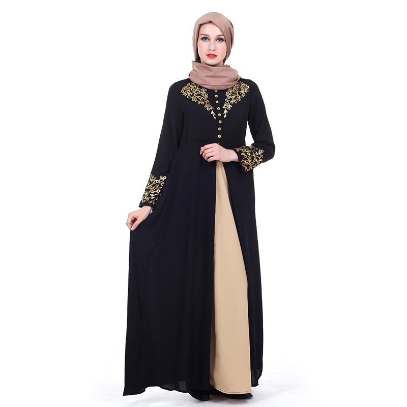 MISSJOY Dubai kaftan Dress Muslim Party Abaya Women Arabic Lace Cardigain Patchwork turkey Islam Prayer caftan marocain dresses 3