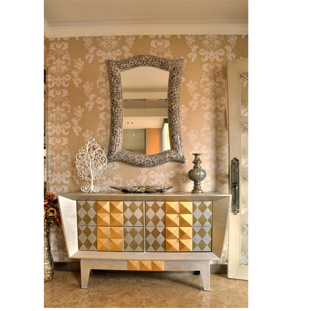 New Classical Living Room Entrance Sideboard Upscale Club Atmosphere Villas  Showcase Ornaments Decorated Lobby Cabinet
