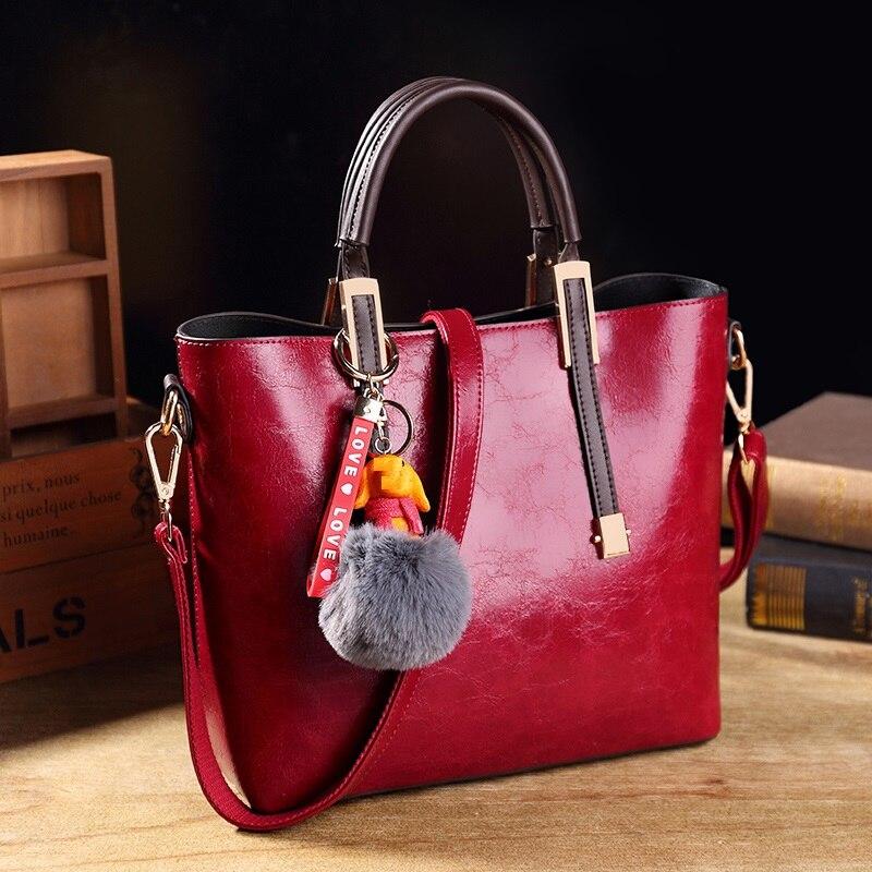 Bolso bandolera de cuero genuino para mujer, de marca famosa bolso de mano, bolsos de hombro para mujer