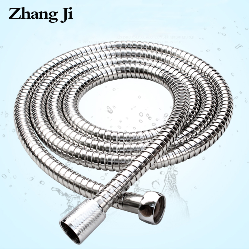 ZhangJi 1.5/2 Meters Stainless Steel Shower Hose Flexible Handheld Shower Pipe Durable Brass Bathroom Accessories Plumbing Hose