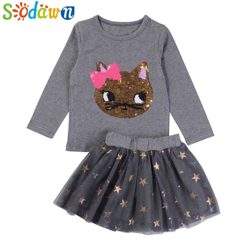 Humor Bear Kids Girls Clothing Sets Clothes Long Sleeve