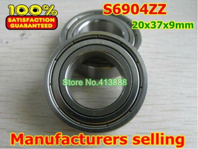 Высокое качество нержавеющая сталь подшипника SS6904ZZ S6904-2Z 6904 S6904 Z ZZ S6904Z S6904ZZ S61904ZZ 20*37*9 мм 440C материал
