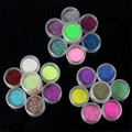 24 Color Metal Brillante Fine Glitter Nail Art Kit ULTRAVIOLETA de Acrílico polvo Polaco Tips Set Nagel Glitzer prego glitter Glitter 20 Dropship