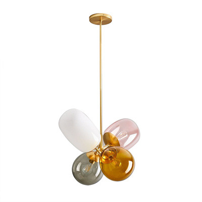 Image 5 - Nordic LED Glass deco chandelier lighting living room fixtures cafe dining room hanging lights Childrens bedroom pendant lamps-in Pendant Lights from Lights & Lighting