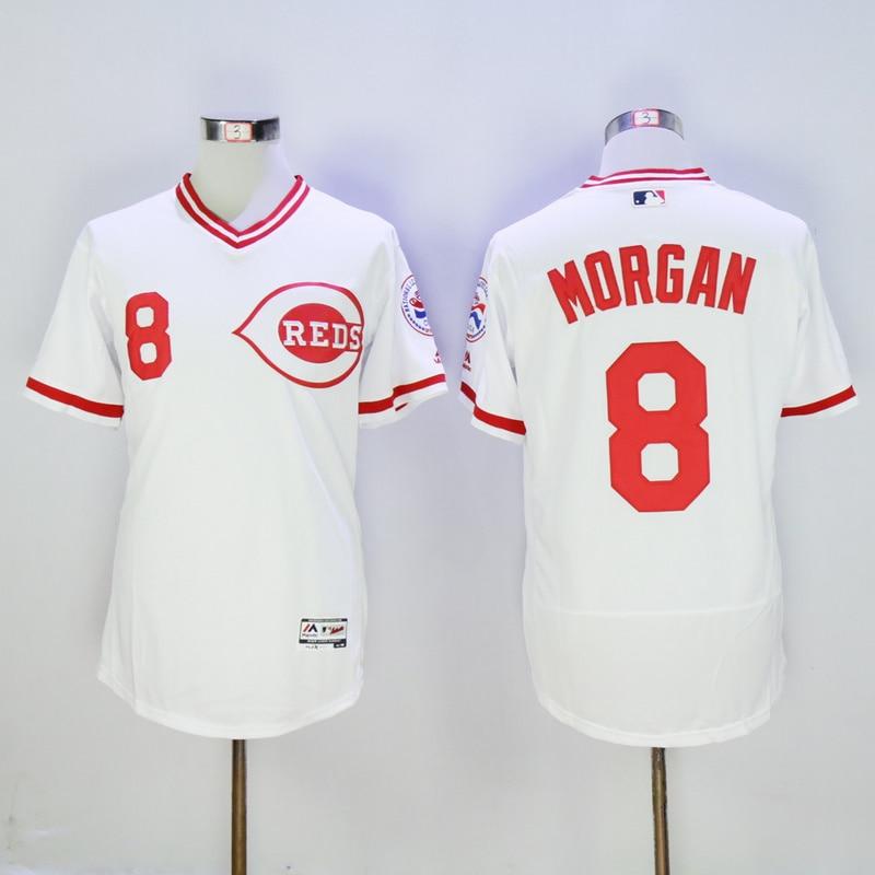 Mens Cincinnati Reds Joe Morgan Flexbase Fully Stitched Baseball Jersey