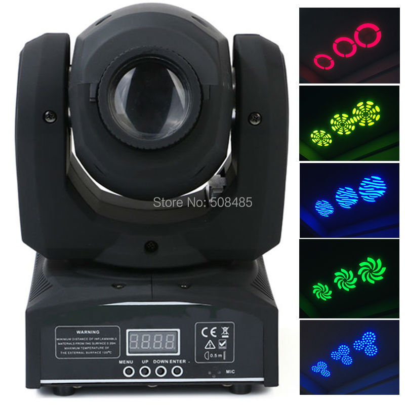 led 4IN1 30W mini led spot moving head light Mini Moving Head Light 30W DMX dj 8 gobos effect stage lights/ktv bar disco 8pcs lot dmx stage spot moving 8 11 channels led 30w moving head free shpping