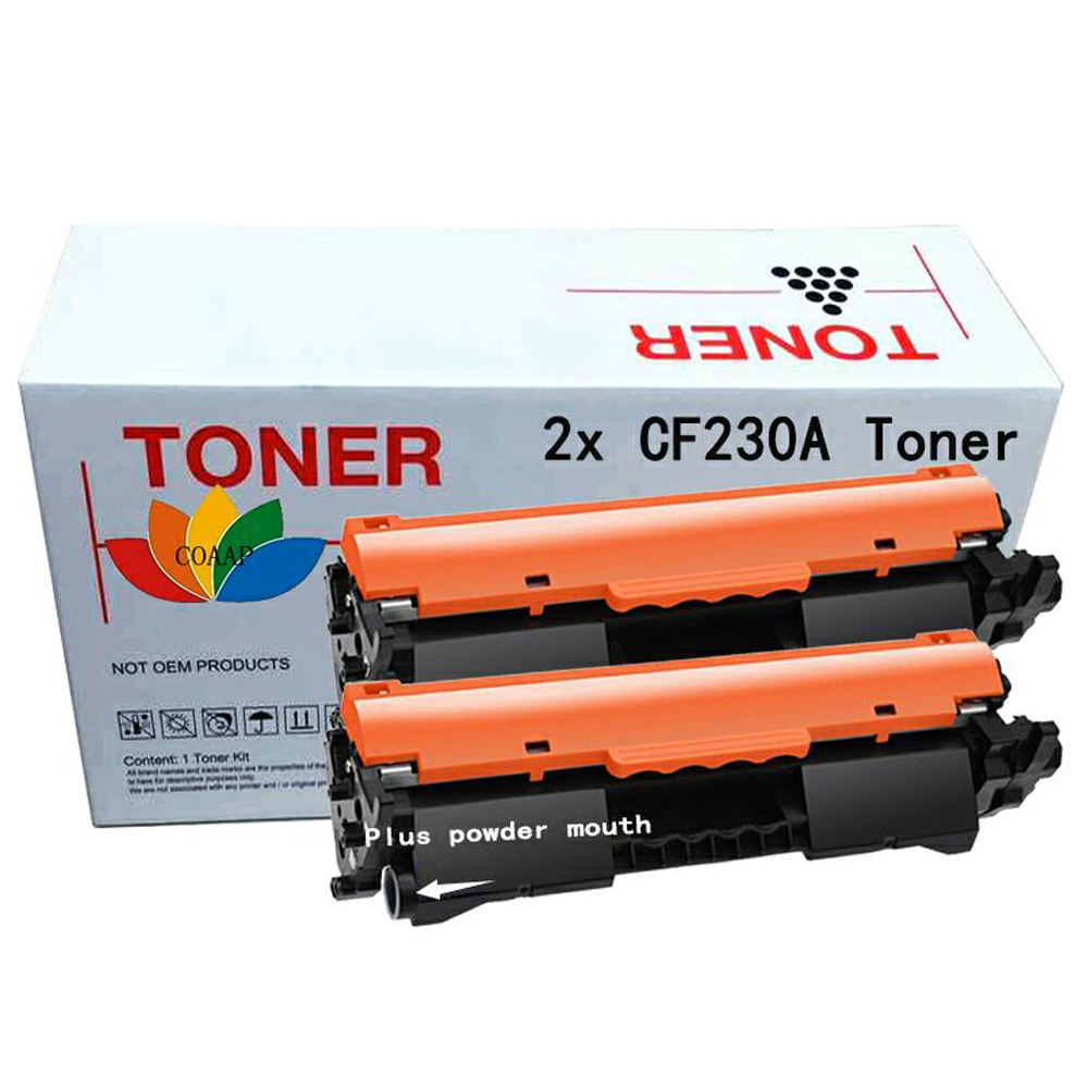 2x Compatible hp CF230A CF230 230A toner cartridge for HP LaserJet M203d M203dn M203dw MFP M227fdn M227fdw (No chip) impressora laserjet 2700 3000 rplacement for hp toner cartridge chip q7560a q7561a q7562a q7563a