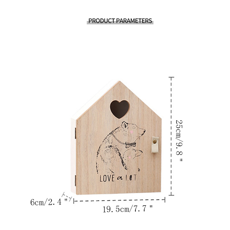 Creative Wooden Key Box Wall Hanging Storage Rack Wall Decoration Key Storage Box Shop Porch Door Decor wood wall shelves in Storage Holders Racks from Home Garden