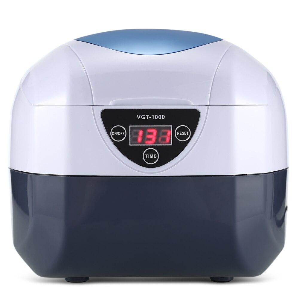 0.75l Digital Ultraschall Reiniger Bad Maniküre Sterilisator Reiniger Sterilisieren Nagel Schmuck Werkzeug Desinfektion Reinigung Maschine