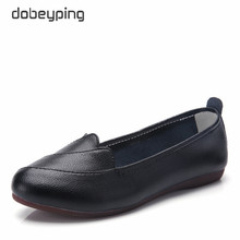 dobeyping New Spring Autumn Shoes Women Real Leather Female Loafers Slip On Woman Flats Solid Womens Ballets Size 35-41