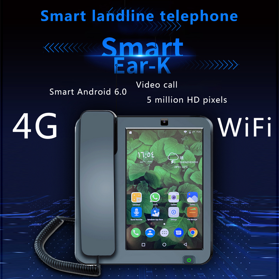 Smart LTE 4G Fixed Wireless landline Android 6.0 with 4G SIM network videophone glob universal elderly WIFI video mobile phoneSmart LTE 4G Fixed Wireless landline Android 6.0 with 4G SIM network videophone glob universal elderly WIFI video mobile phone