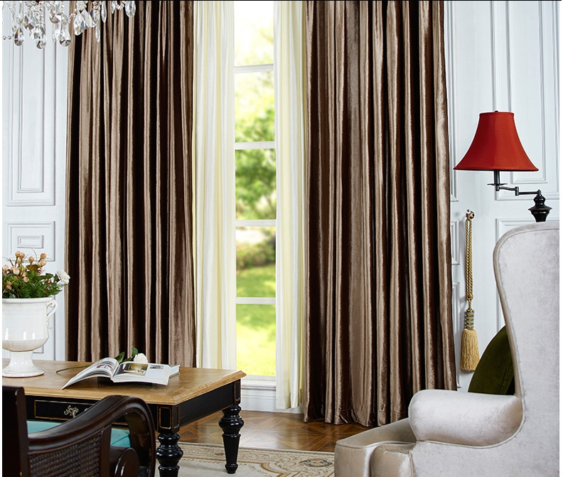 New Custom Made Luxury Italian Wool Curtains Living Room Curtain Joyous Wedding Decorations Eco Friendly Flocked Yarn In From Home