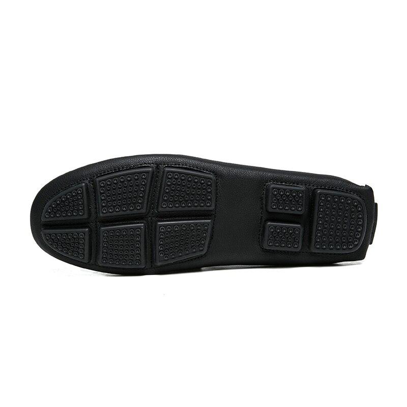 Hommes Respirant Noir Cuir Doux Véritable Luxe Marque 1 Sur Black Conduite 2018 Les 2 black Chaussures Glissement Occasionnels Jkpudun Mocassins De tpn6qcytZ