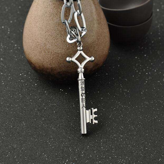 """Attack On Titan Anime """"Eren's Key"""" Necklace (2 Colors)"""