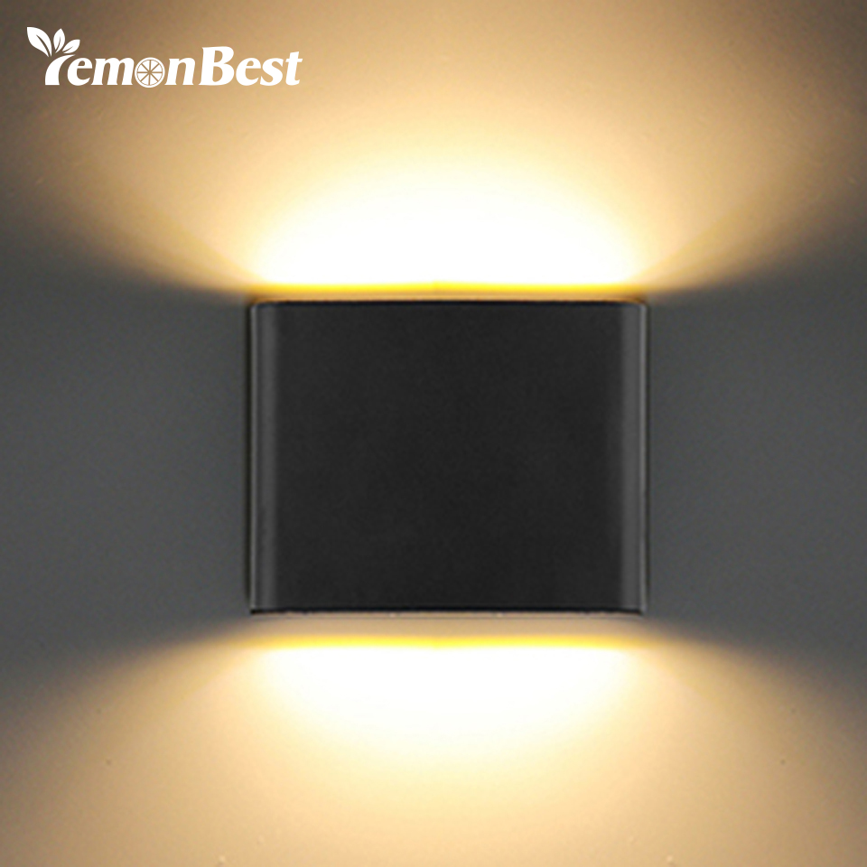 2019 Latest Design Ip65 Waterproof 7w Led Outdoor Wall Lamp Aluminum Cube Cob Modern Porch Light Home Decoration Outdoor Lighting Ac 110-220v Led Outdoor Wall Lamps