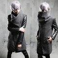2017 Метросексуал зимнее пальто в длинный участок Корейской мужской хлопок пальто стилист F77 P125