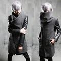 2017 casaco de inverno no longa seção de Coreano Metrosexual brasão do algodão dos homens de cabelo stylist F77 P125