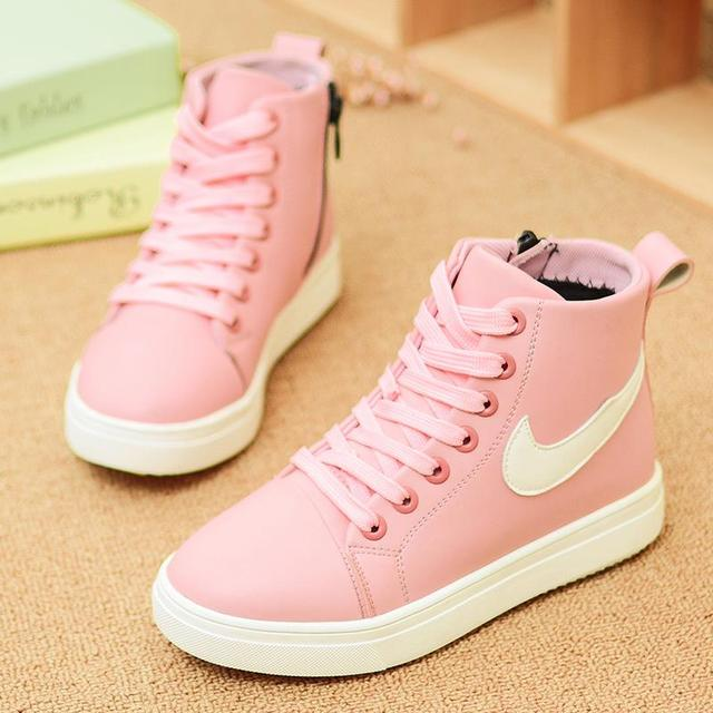 Summer Spring 2016 New Casual Shoes Running Shoes Children's shoes School Boys Girls Fashion Sneakers Hightops Side Zip Kids