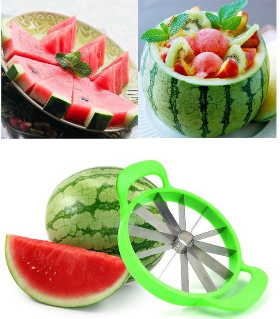 Atemberaubend 1 Stücke Multifunktionale Edelstahl Wassermelone Geschnitten #RR_18