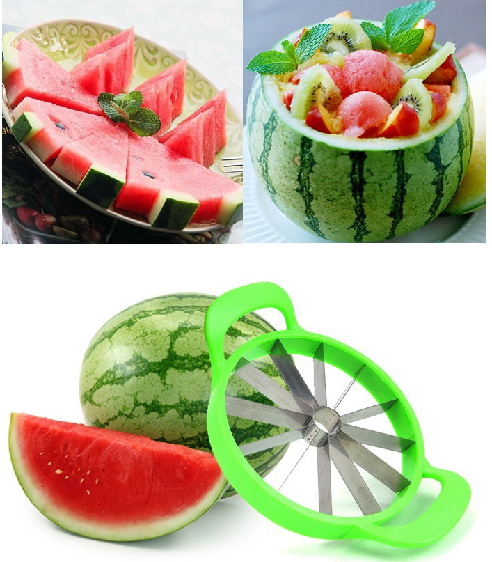 1Pcs Multifunctional Stainless Steel Watermelon Cut Melon Pieces Spherical Fruit and Vegetable Cutters Fruit Cut