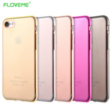 Transparent Clear Silicone Case For iPhone 7 7Plus 6S Plus Ultra Thin Soft TPU Clear Back Cover Phone Cases For Iphone7 PLus