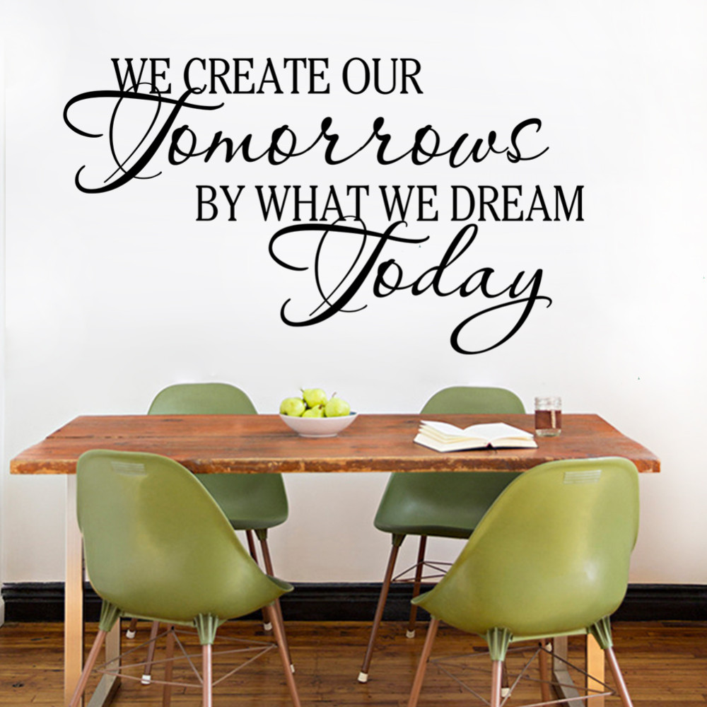 We Create Our Tomorrow By Dreams Today Wall Art Decal Home Decor Famous Inspirational Quotes Living Room Pvc Stickers