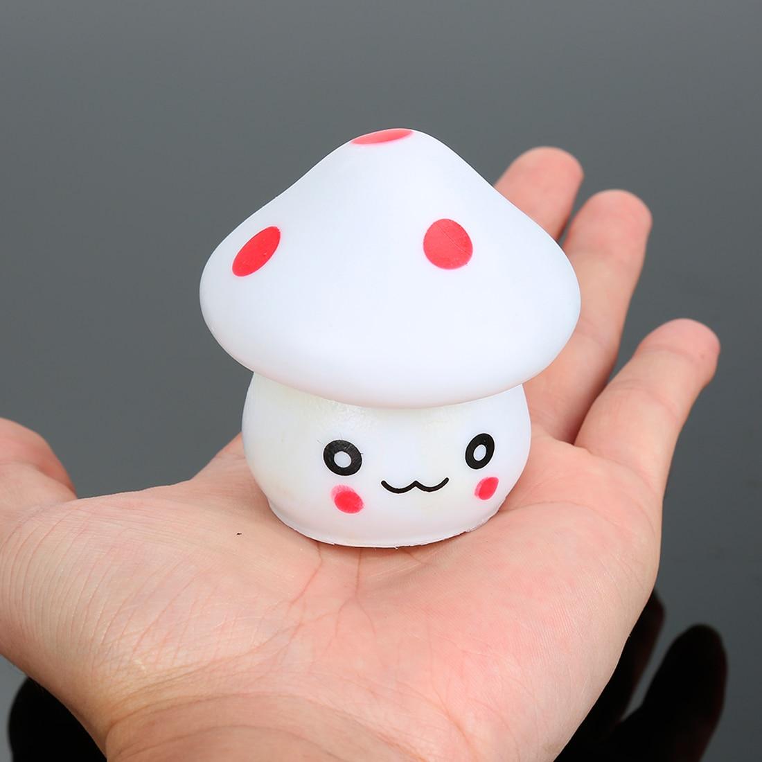 7 Color Changing LED Mushroom Lamp Party Lights Mini Soft Baby Child Sleeping Nightlight Novelty Luminous Toy Gift