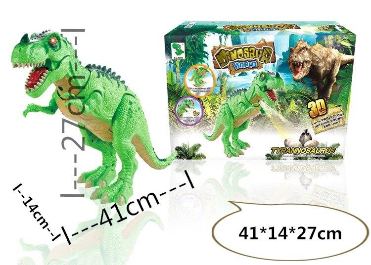 Dinosaure électrique de haute qualité dinosaure tyrannosaure marche dinosaure avec sons et LED et projecteur jouets électroniques 2 couleurs