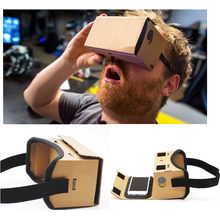 VR Box 2.0 3D Virtual Reality Glasses Google Cardboard VR Glasses for iPhone 5 6 7 Headset movies For Xiaomi samsang smartphone(China)