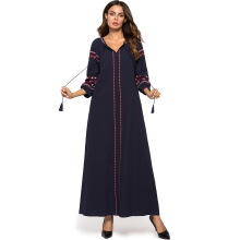 Plus Size Muslim Maxi Dress Islamic Abaya Women Casual Party Turkish Dresses Middle East 2019 Spring