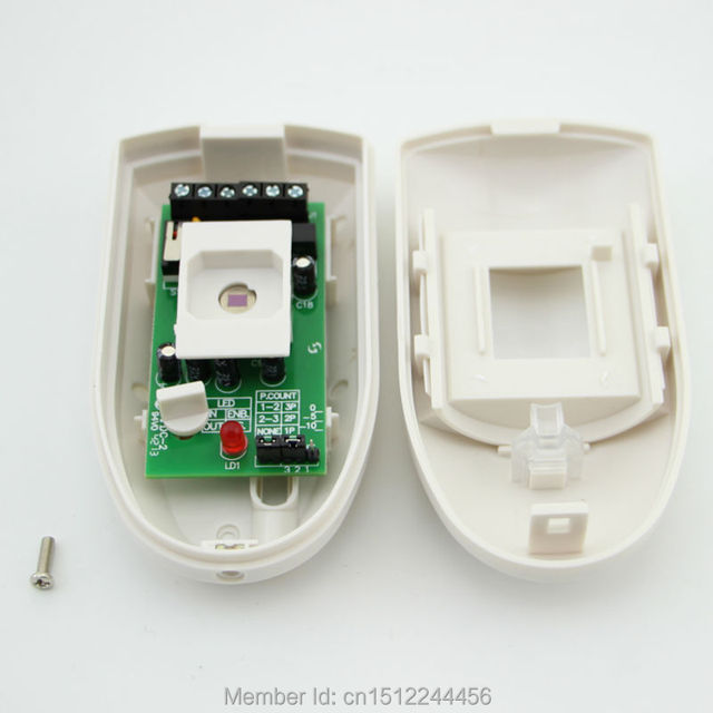 Free shipping eMastiff Wired PIR Motion Sensor Detector 12V Input Temper function Alarm Relay Contact