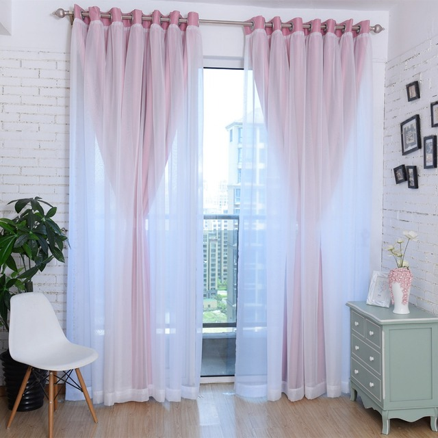 Solid Pink Blackout Curtains For Living Room Bedroom Sheer Window Treatments Cortinas Drapes