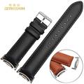 Genuine leather bracelet for SAMSUNG watchband 20mm band Automatic bar wristwatchesbelt strap with Metal linker men watch strap