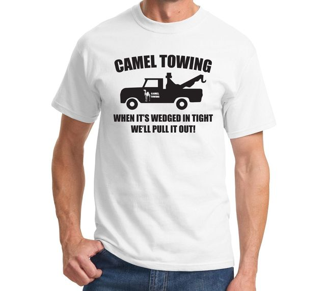 2a64b56a T Shirt Print Men'S Short Camel Towing Funny Adult Humor Rudeow Truck  Unisex O-Neck Office Tee