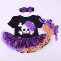 Halloween 1Set party  Rompers Dresses, Mini Baby Clothes Sets girl clothing Tutu Romper Set =Headband+Rompers+shoes
