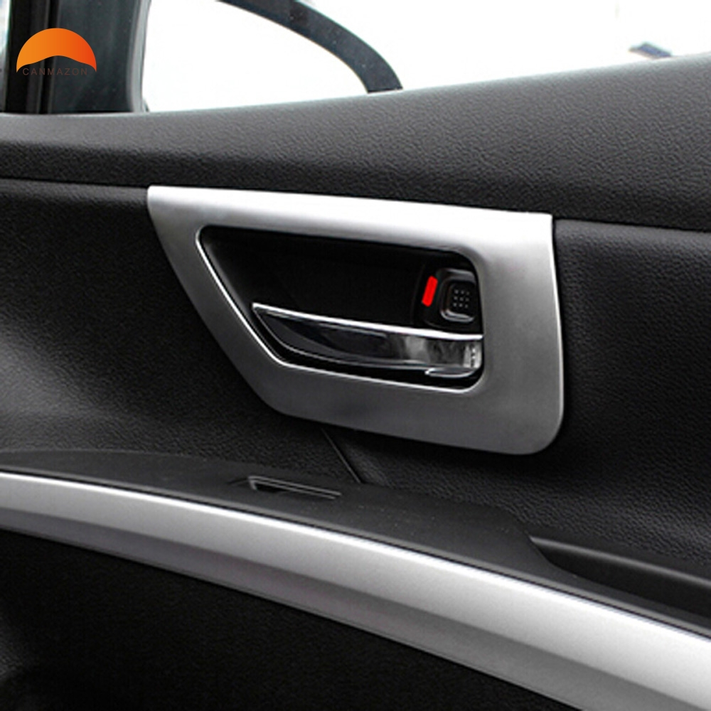 For Suzuki Sx4 S-Cross Crossover 2014 2015 2016 2017 2018 Inner Door Handle Cover ABS Matte cHROME Trim Car Accessories 4PCS цена