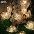 Venda quente 220 V Led Luzes De Fadas 10 m 80 led luzes Da Corda Para A Decoração Do Casamento Do amor Do Coração de Natal Xmas Férias