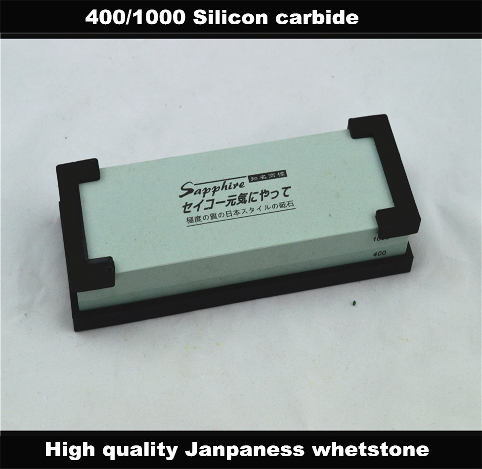 High quality handuse font b knife b font sharpening system silicon carbide 400 1000 water stone