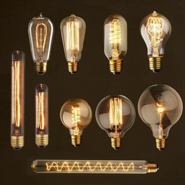vintage bombilla de edison v retro luces navideas lmpara st e w bombilla de