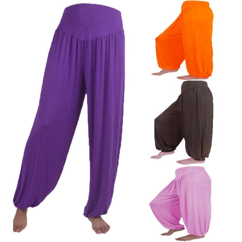Dance Harem pants women plus size 3XL 18 Colors Mid Waist Elastic Loose Casual Modal Cotton
