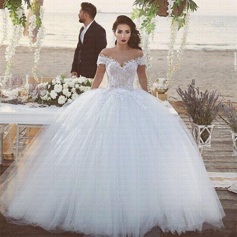 2019 New Arabic Beach Wedding Dresses Elegant Color Vestido De Novia  Bridal Gowns