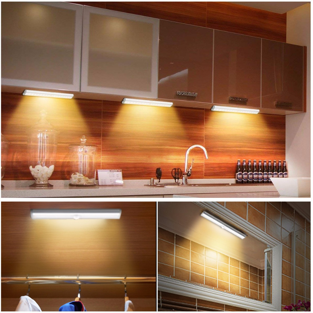 Motion Sensor LED Light 10 LEDs Wireless Closet Lights