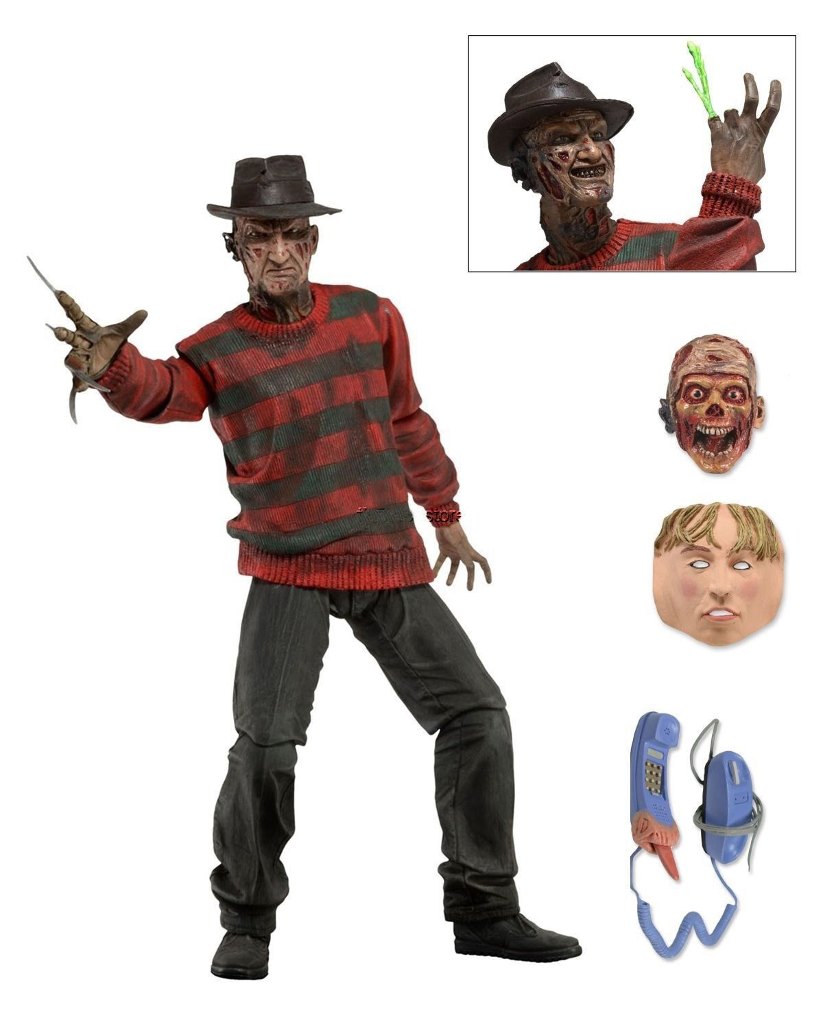 NECA 21CM a Nightmare on Elm Street Freddy Krueger Freddy's Nightmares Figure Collection Toys horror film a nightmare on elm street 3 freddy krueger toys with lighting house action figure neca pvc collection model toy 28cm