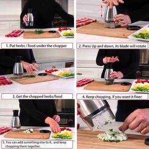 Image 5 - Siekacz do warzyw ze stali nierdzewnej owoce Chopper czosnku krajalnica do cebuli Dicer Cutter akcesoria kuchenne zioła i przyprawy narzędzia